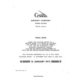 Cessna 172 and F172 1963 thru 1973 Parts Catalog Manual! 1975