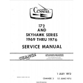 Cessna 172 and Skyhawk Series 1969 thru 1976 Service Manual 1975 $19.95
