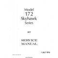 Cessna 172 and Skyhawk Series 1977 Service Manual 1976 $13.95