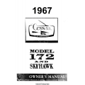 Cessna 172 and Skyhawk Owner's Manual 1967 $6.95