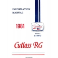 Cessna 172RG Cutlass RG Pilot's Operating Handbook/Information Manual 1980 - 1981 $13.95