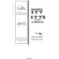 Cessna 177, 177B and Cardinal Owner's Manual 1975