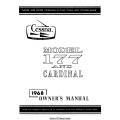 Cessna 177/ C177 and Cardinal Owner's Manual 1968