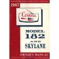 Cessna 182 and Skylane Owners Manual 1967 $6.95
