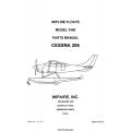 Cessna 206 Wipline Model 3450 Floats Parts Manual 2007