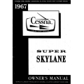 Cessna 206 Super Skylane Owner's Manual 1967 $6.95