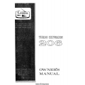 Cessna 206 Turbo Skywagon Owner's Manual 1969 $6.95