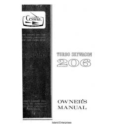 Cessna 206 Turbo Skywagon Owner's Manual 1969