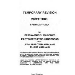 Cessna 208 Series Pilot's Operating Handbooks and Airplane Flight Manuals 2004 $13.95