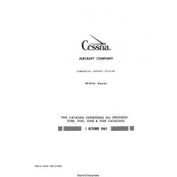 Cessna 210, 210B, C, D, E, F and T210 Parts Catalog 1965 - 1968 $13.95
