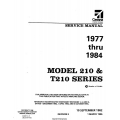 Cessna 210 and T210 Series 1977 thru 1984 Service Manual 1996 D2057-3-13  $19.95