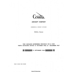 Cessna 210G, H, J and T210G, H, J Parts Catalog 1966 - 1968 $13.95