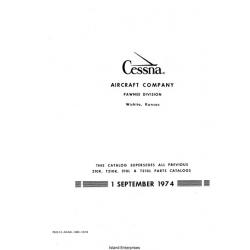 Cessna 210K, T210K, 210L and T210L Parts Catalog 1974 $13.95