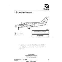 Cessna Caravan II Model 406 Information Manual 1986 $19.95