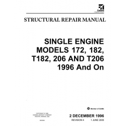 Cessna Single Engine 172, 182, T182, 206 & T206 1996 and On Structural Repair Manual 2005