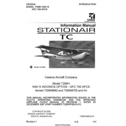 Cessna T206H NAV III GFC 700 AFCS Stationair TC Pilot's Operating Handbook 2006 - 2007
