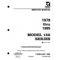 Cessna 152 Series 1978 thru 1985 Service Manual D2064-1-13 $19.95