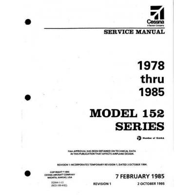 cessna 152 series 1978 thru 1985 service manual d2064 1 13 19 95 rh aero stuff com cessna 150 g service manual cessna 152 service manual pdf