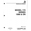 Cessna Model 172 Series 1996 & ON Maintenance Manual 172RMM15 $29.95