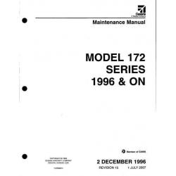 Cessna Model 172 Series 1996 & ON Maintenance Manual 172RMM15 $19.95