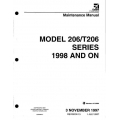 Cessna 206 & T206 Series 1998 & ON Maintenance Manual 206HMM13 $19.95