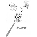 Cessna Model 182F Skylane Owners Manual 1963 $9.95