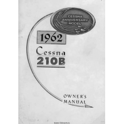 Cessna Model 210B Owners Manual 1962 $6.95