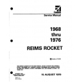 Cessna Reims Rocket 1968 thru 1976 Service Manual $19.95