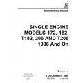 CESSNA Maintenance Manual SINGLE ENGINE172, 182, T182, 206 AND T206 1996 And On $19.95