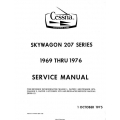 Cessna Skywagon 207 Series 1969 thru 1976 Service Manual 1975 $19.95