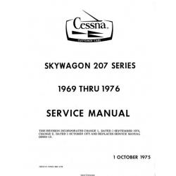 Cessna Skywagon 207 Series 1969 thru 1976 Service Manual 1975