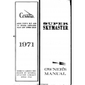 Cessna Super Skymaster Owner's Manual 1971 $9.95