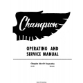 Champion 7EC and 7FC Operating and Service Manual