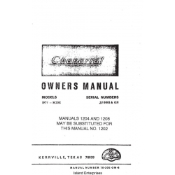 Mooney Chaparral M20E 1971 S/N 210001 & ON Owners Manual $13.95