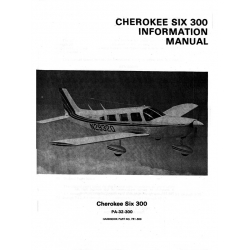 Piper Cherokee Six 300 Information Manual $13.95