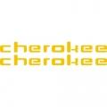 Piper Cherokee Aircraft Decal,Sticker 1.75''high x 13''wide!