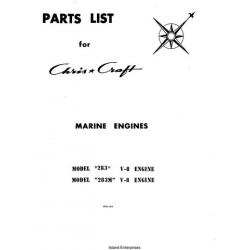Chris Craft 283 & 283M V-8 Marine Engines Parts List 1970 $5.95