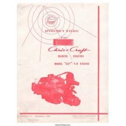 Chris Craft 427 V-8 Marine Engines Operator's Manual 1969 $5.95