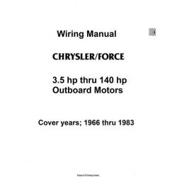 Chrysler/Force 3.5hp thru 140hp Outboard Motor Wiring Manual 1966 - 1983