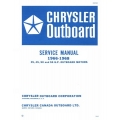 Chrysler 35, 45, 50 and 55hp Outboard Motors OB-980 Service Manual 1966 - 1968 $5.95