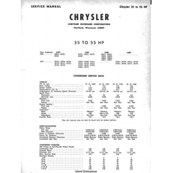 Chrysler 35hp thru 105hp Outboard Motors Service Manual 1966 - 1967