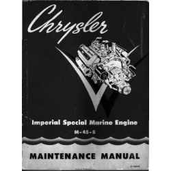 Chrysler M-45-S 8-Cylinder Imperial Special Marine Engine Maintenance Manual