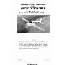 Cirrus Design SR20 All-Electric Aircraft Serials 1268 and Subsequent Airplane Information Manual 2010 $9.95