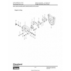 Cleveland Brakes 10 inches External Assembly and Parts List