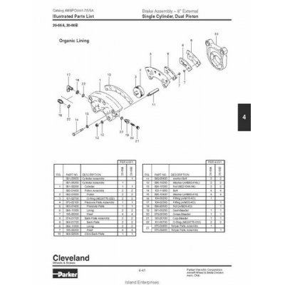 cleveland brakes 8 inches external assembly 30 66a b parts. Black Bedroom Furniture Sets. Home Design Ideas