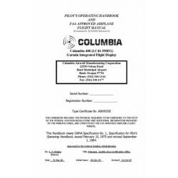 Columbia 400 LC41-550FG Aircraft Pilots Operating Handbook 1975 - 1984