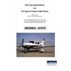 Commander 114TC and 115TC Pilot's Operating Handbook & Airplane Flight Manual $13.95