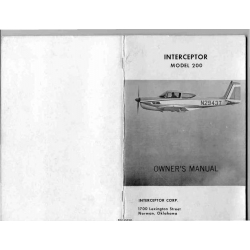 Commander Interceptor 200 Owner's Manual $4.95