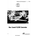 Conrad Ten-Two 10,200 lbs Supplement to Airplane Flight Manual/POH 1961 $5.95