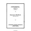 Continental A-50, A-65 & A-75 Series Operators Handbook $5.95